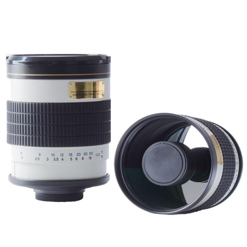 500mm f6.3 T Mount MIRROR TELEPHOTO LENS white for Canon nikon sony pentax fuji olympus m43 nex mirrorless camera переходное кольцо falcon eyes olympus om sony nex