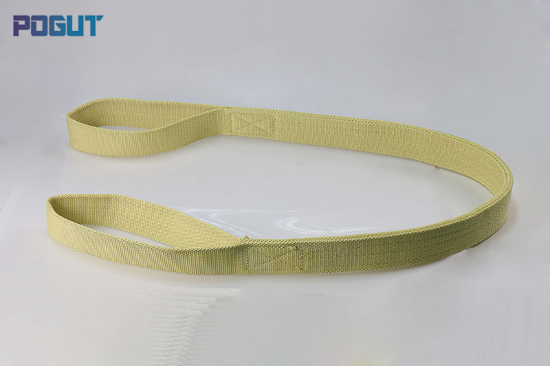 High Quality Kevlar Fiber Belt Heat Resistant Fire Retardant Lifting Sling 3 Tons