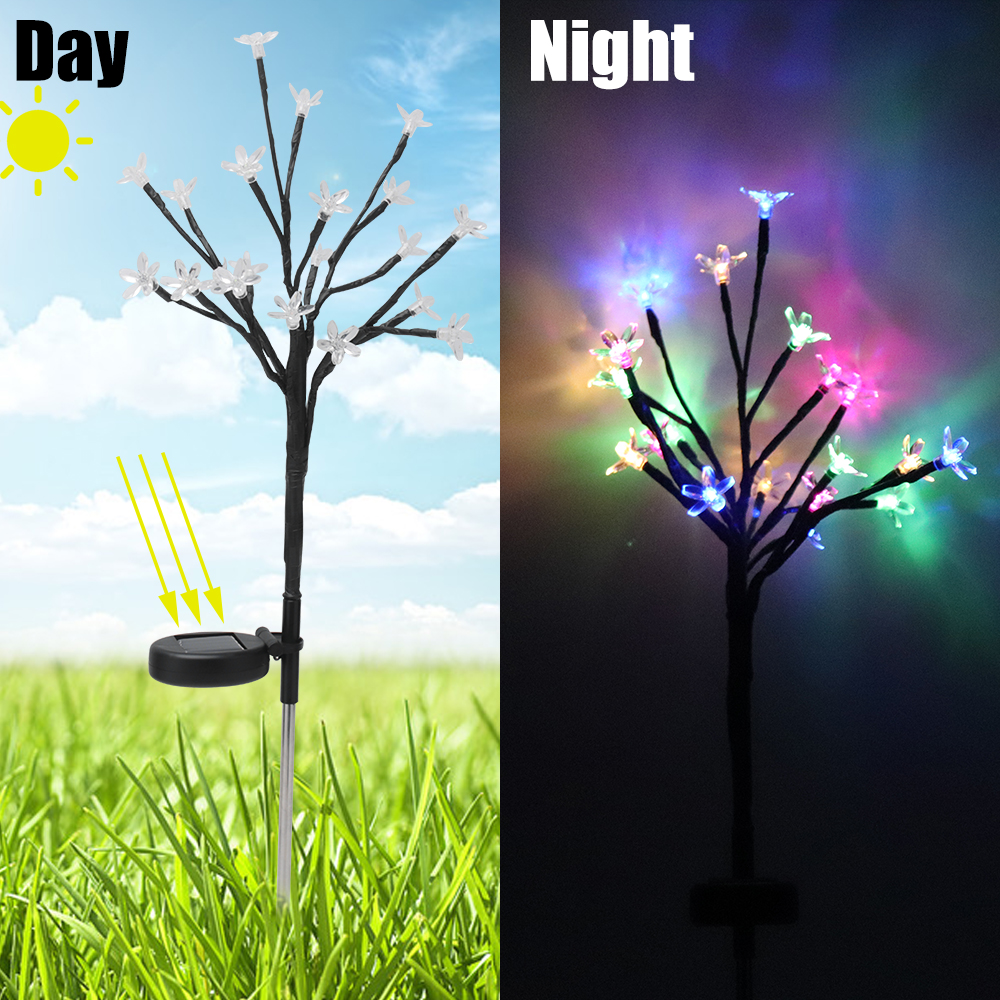 Waterproof Solar Garden Lawn Lamp DIY Colorful LED Flower Light Outdoor Landscape Lighting Garden Yard Decor Solar Path LightWaterproof Solar Garden Lawn Lamp DIY Colorful LED Flower Light Outdoor Landscape Lighting Garden Yard Decor Solar Path Light
