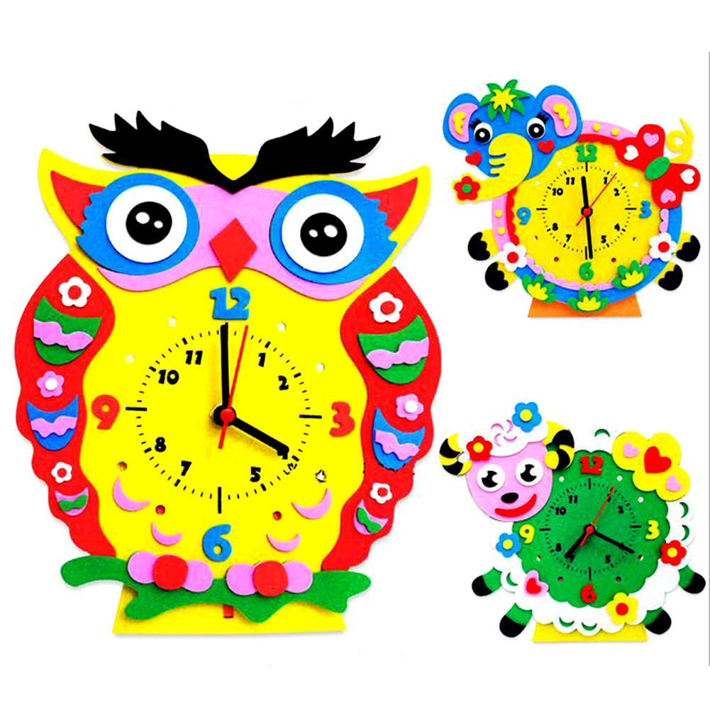 Worksheet Learning Clocks Online compare prices on clock assembly kit online shoppingbuy low 3d handmade eva animal learning toy assembled diy creative educational toys model building kits for