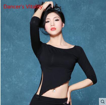 Crop top long sleeve dance dresses