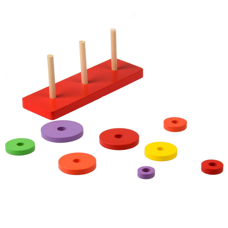 Kids Wooden Toys Baby Educational Solid Wood Stacking ...