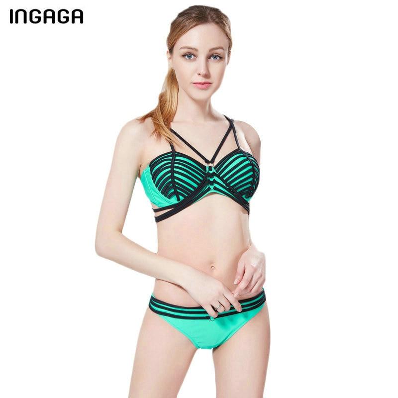 INGAGA New Sexy Bikini Set 2017 Bandage Swimwear Women Push Up Swimsuit Low Waist biquini Bathing Suits