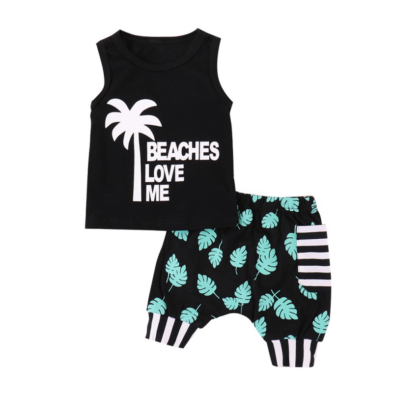Kids Beach Wear Tracksuit For Boys Clothing Sets 1 2 3 5Y Children Clothing Summer Toddler Boy Clothes Girls Sport Suit Outfit