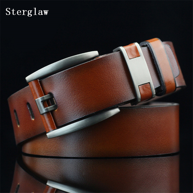110 cm female casual Mens belt leather metal Knife belt for men 2018 fashion metal wild personality mens gift ceinture U126