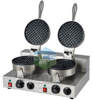 Free shipping 2 PCS/lots 110v 220v double end heart Waffle Baker Machine