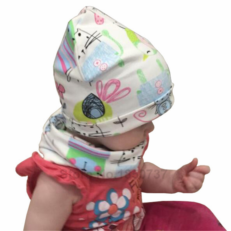 Topi bayi untuk Anak Perempuan Kartun Cetak Anak-anak Topi Bayi - Pakaian bayi - Foto 5