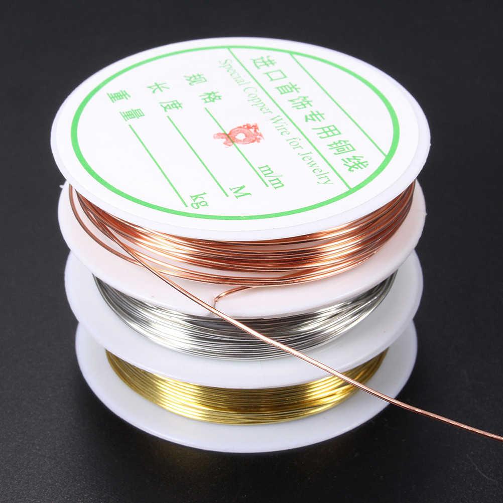 0,3-0,8 мм красный золотой металл серебристого цвета нить веревка из бисера бисер декоративная проволока подходит для ювелирных изделий маркировка DIY основной ювелирный шнурок