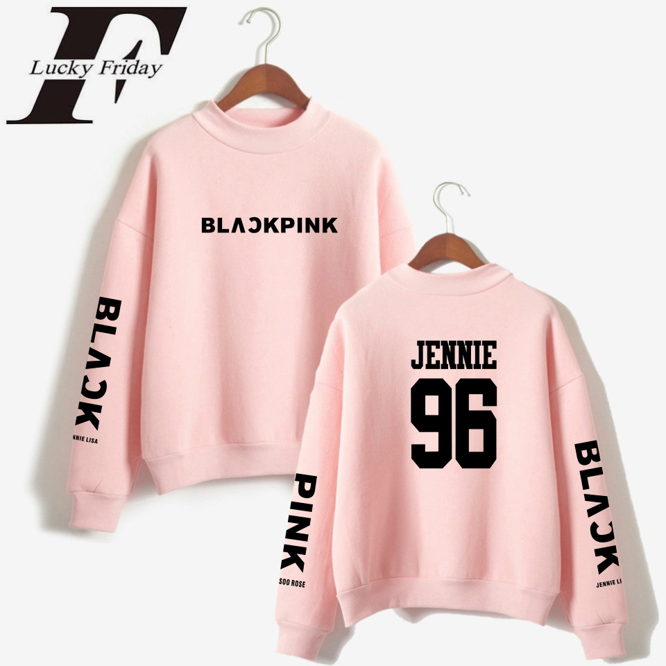 LUCKYFRIDAYF Kpop Blackpink <font><b>K</b></font> <font><b>Pop</b></font> Women Hoodies Sweatshirts Outwear Hip-Hop Blackpink Print Mens Hoodies Sweatshirts Clothes image