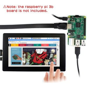 "Image 2 - Raspberry Pi 4 Model B/ 3B +/ 3B 7 Inch 1024X600 Ips Capacitieve Touch Screen 7 ""Monitor W/Case Bracket Osd menu"