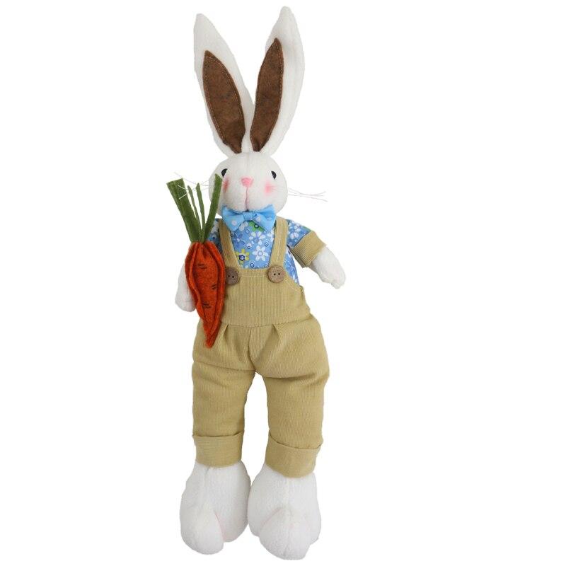 45 cm Nette plüsch puppe kaninchen puppe Ostern geschenk karotte kaninchen puppe kind geschenk bunny plüsch puppe kawaii kaninchen spielzeug rosa bunny