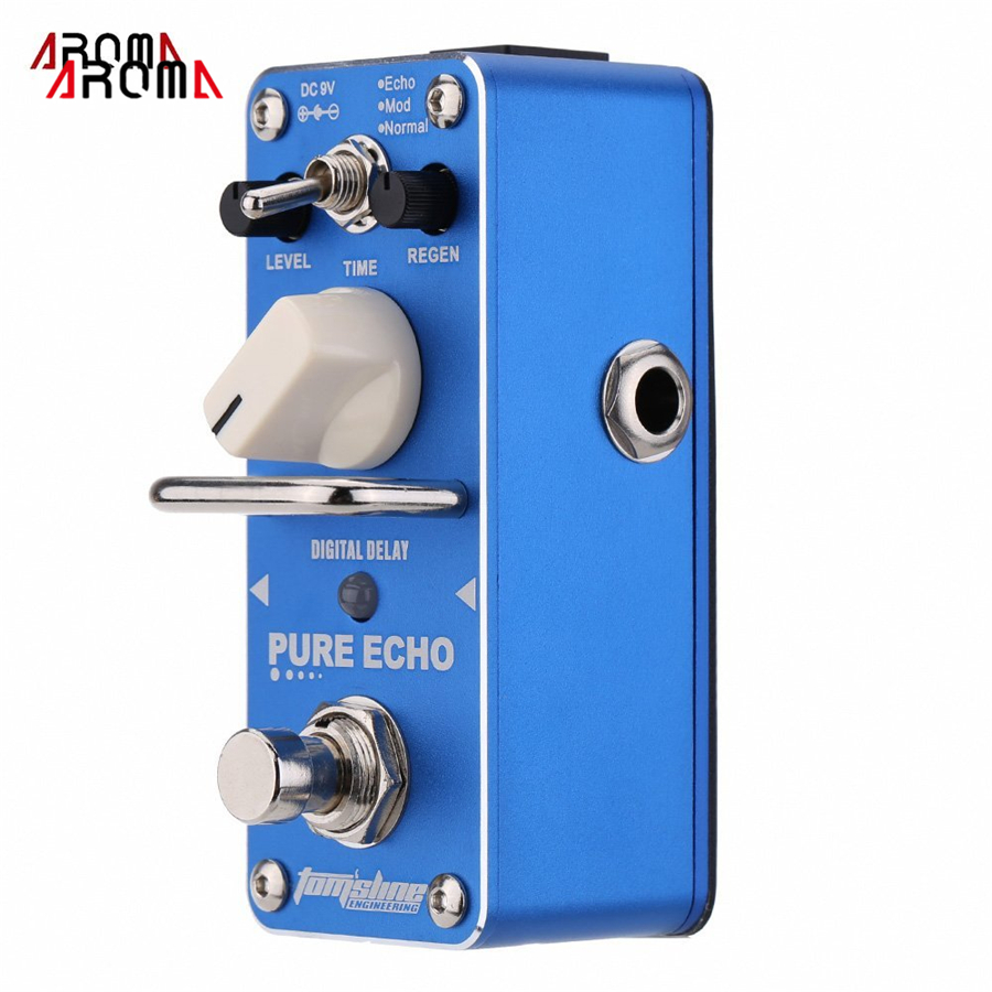 AROMA APE-3 Pure Echo Digital Delay Electric Guitar Effect Pedal Mini Single Effect with True Bypass aroma aov 3 ocean verb digital reverb electric guitar effect pedal mini single effect with true bypass guitar parts