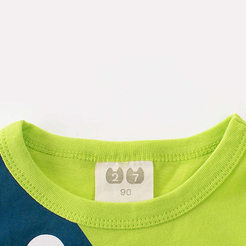 MrY 子供夏の綿の漫画 Tシャツトップスタコプリント Tシャツ夏の子カジュアルティーズ半袖綿トップス服