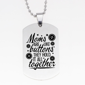 92ce3e39979d Yamily mamás son como botones tienen todo junto grabado encanto colgante  collar mamá regalo de la joyería