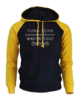 Yung LEAN UNKNOW DEATH Letter Print Hoodies Men 2017 Autumn New Fashion Winter Raglan Sweatshirt Harajuku