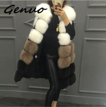 Genuo New 2019 Fashion winter womens fur vest coat Warm long vests Women faux outerwear jacket