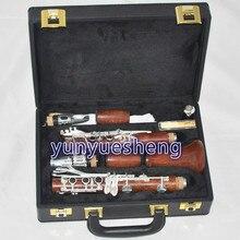 Профессиональная Роза деревянный кларнет 18 серебряный ключ с металлическая горловина чехол