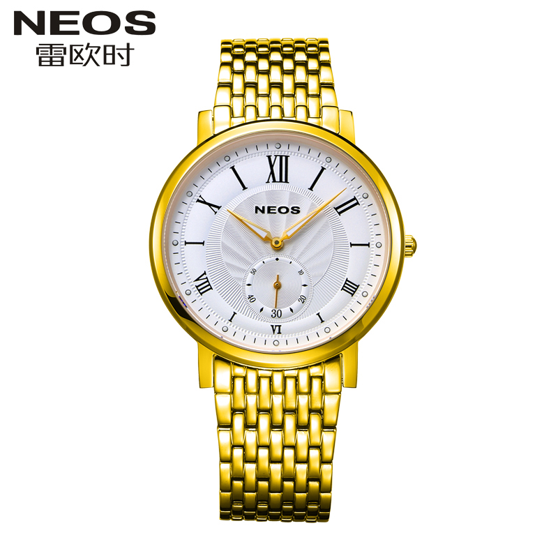 NEOS Brand 2017 New Men 's and Female's Watches Ultra - Thin Business Fashion Models Casual Waterproof Quartz Lovers' Watch men s casual watches men s watch students quartz watch waterproof business watch fashion trend korean version of the watch