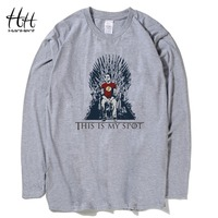 Hanhent Game Of Thrones Men T Shirt This Is My Spot Long Sleeve Cotton O Neck