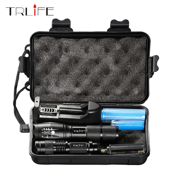 8000LM Ultra Bright LED Tactical Flashlight Torch L2 T6 Zoomable Flashlight Rechargeable  Mini Lamp Penlight 18650 Battery 2PCS anjoet ultra bright mini zoom flashlight led torch cree xml t6 l2 waterproof lanterna rechargeable light ues 18650 penlight