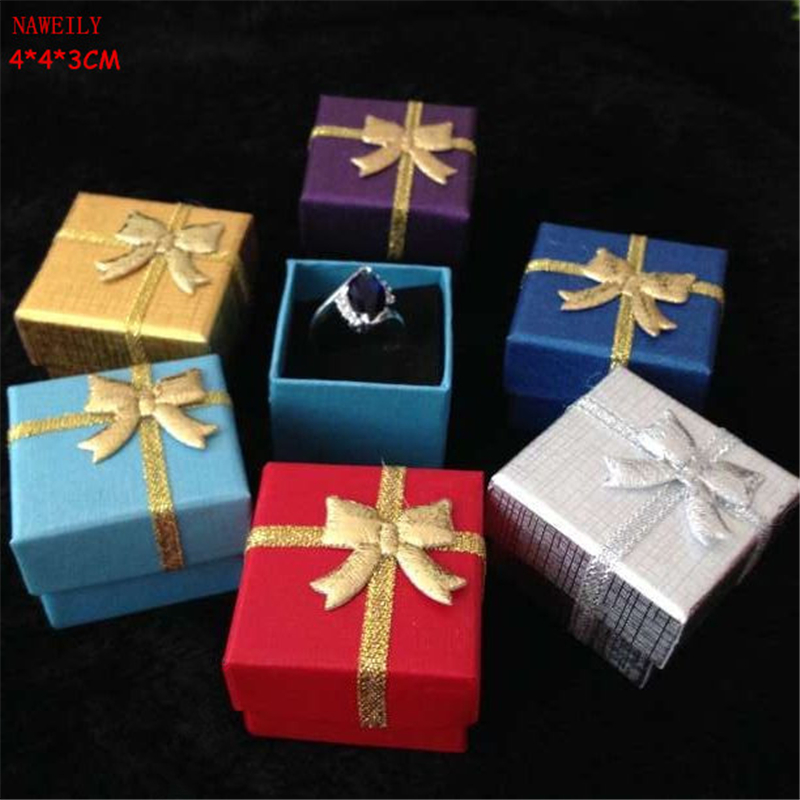 Multicolors Jewelry Gift Box 443cm For Ring Pendant