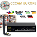 1 Año Europa Servidor Cccam HD freesat V8 Súper DVB-S2 Satélite receptor Lleno 1080 P Italia España Árabe Cline 1 UNID USB Wifi Cccam