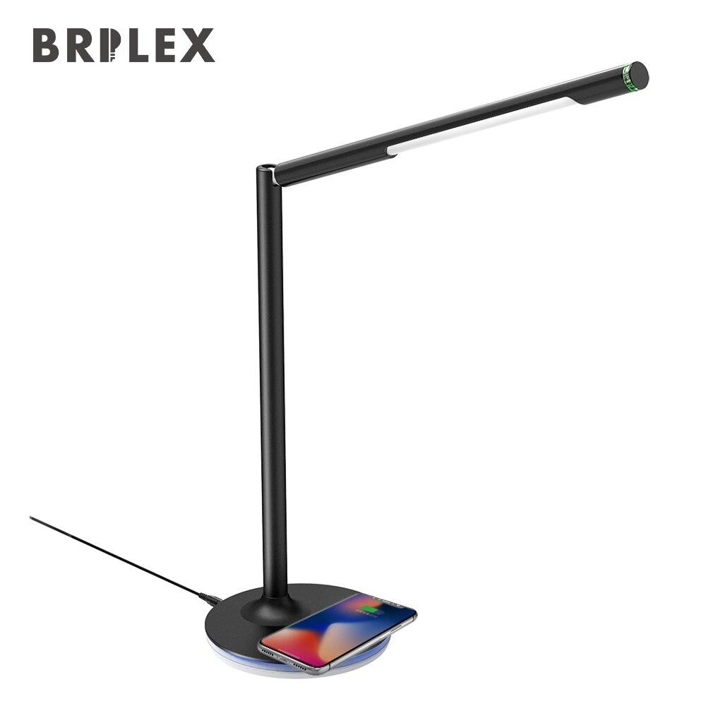 Brilex LED Schreibtisch Tisch Lampen Drahtlose Lade 360 Grad Verstellbaren Ständer & Halter Arbeits Lesen Studium Büro Schlafzimmer