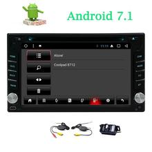 2Din in Dash Car DVD Player with Android 7.1 Stereo Entertainment Bluetooth USB SD Radio Video Wifi Mirrorlink Wireless Rear Cam