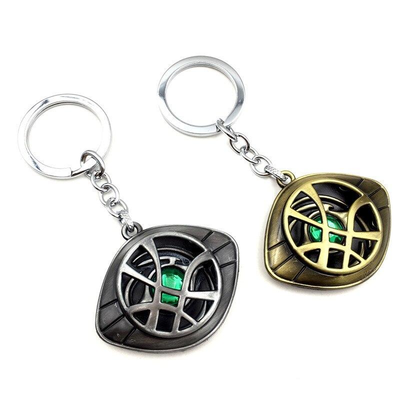 Marvel Superhero Figure Doctor Strange Eye Of Agomotto Keychain Toy Dr Strange Eye Of Agamotto Key Chain Car Bag Keychain Gift Latest Fashion Toys & Hobbies