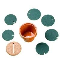 Diyのテーブル装飾ノベルティカップ断熱マット断熱サボテン鉢植えコースター茶パッド2017ホット新しいマット卸
