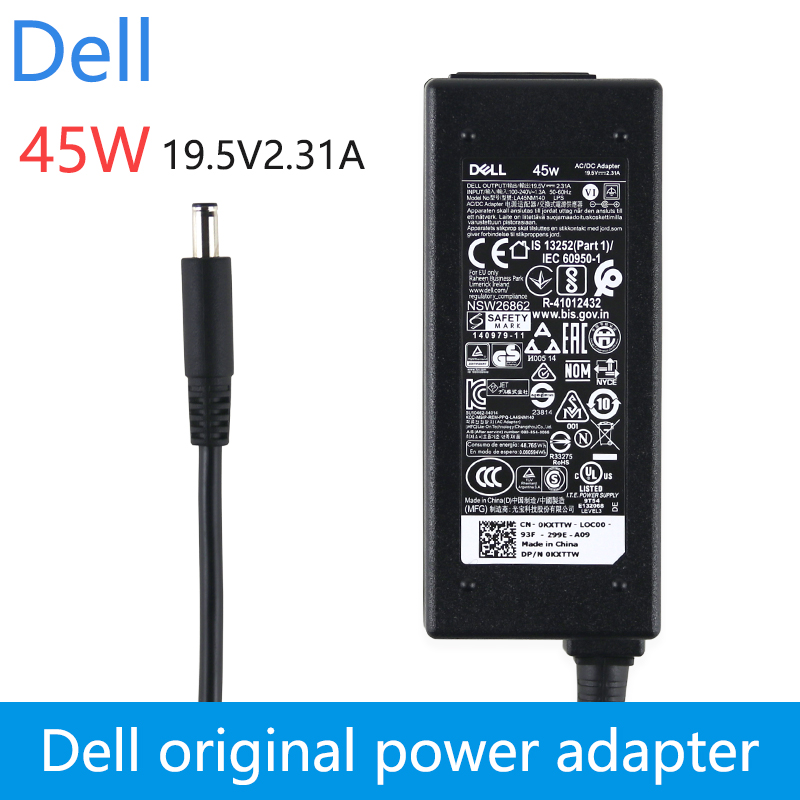 New original 19.5v 2.31a 45w laptop ac adapter charger for dell xps13 9360 9350 9343 9365 xps12 la45nm140 vostro5370 13 5000