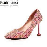 KarinLuna Women S Keroan Style Strange Thin High Heel Pointed Toe Party Wedding Shoes Woman Brand