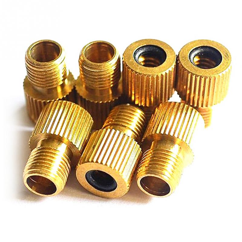 4PCS Bicycle Adapter Converter Presta To Schrader Valve Adapter Converter Road Bike Cycle Bicycle Pump Tube