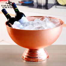 1 Piece 13L Bucket Champagne 304 Stainless Steel Ice Granule Tube Barrel Wine Silver/Copper/Gold
