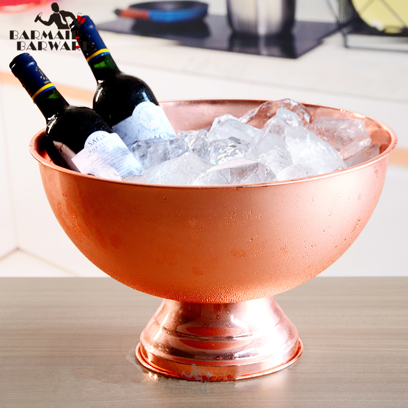1 Piece 13L Bucket Champagne 304 Stainless Steel Ice Bucket Granule Tube Champagne Barrel Ice Wine Barrel Silver/Copper/Gold