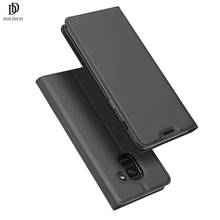 DUX DUCIS Luxury Leather Case For Samsung J6 2018 Case J4 (2018) Samsung Galaxy J8 2018 Case Flip Phone Cover Coque EU etui New