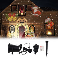 Waterproof Laser Projector Lamps LED Stage Light Santa Claus Heart Snow Christmas Landscape Garden Lamp Outdoor