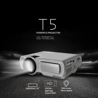 T5 HD 1080P Mini projector 1920*1080 Resolution For Phone Home Cinema Theater 1800 lumen LCD Projector HDMI AV USB VGA TF Beamer