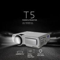 T5 HD 1080P Mini projector 1920*1080 Resolution For Phone Home Cinema Theater 1800 lumen LCD Projector HDMI AV USB VGA TF Beamer