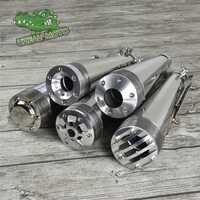 Super piège silencieux tuyau d'échappement rétro moto modifié acier inoxydable Vintage silencieux silencieux silencieux