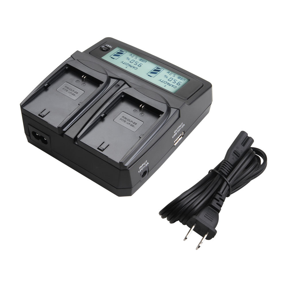 LVSUN Universal Battery Charger EU/ US/KR/AU/UK Input with Car charger adapter for SONY SAMSUNG CANON NIKON Camera Accessories