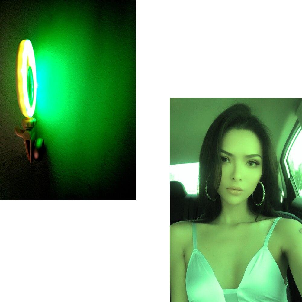 Yidoblo DS-05 RGB 5 colors adjust LED Selfie Ring Light Wide Angle Macro Lens Makeup LED Light Ring Lamp for iPhone Universal кольцо для селфи selfie ring light на батарейке белое