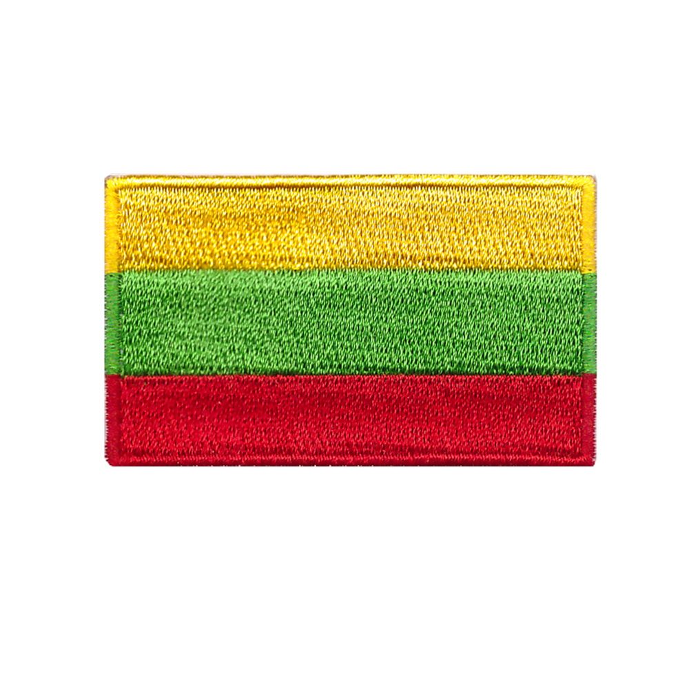 Lithuania National Flag Embroidered Iron On Sew On Patch Badge For Clothes etc