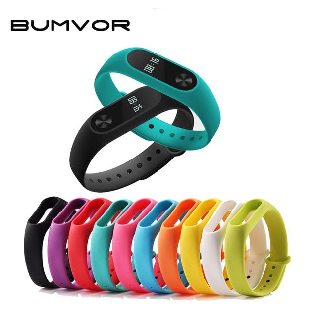 BUMVOR Pure Strap Original Mi Band Strap for xiaomi mi band 2 Bracelet Silicone