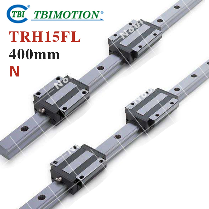 TBI 2pcs TRH15 400mm Linear Guide Rail+4pcs TRH15FL linear block for CNC linear guide for 3d printer 1pc trh15 l200mm linear rail 2pcs trh15a flange block