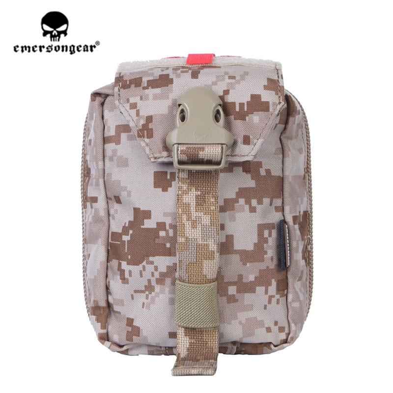 Trousse de premiers soins emersongear Emerson pochette Medic poche Molle Nylon EDC sac de survie Sports de plein air militaire pochette modulaire Airsoft