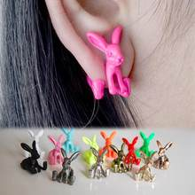 1 Piece Jewelry Earrings Punk Style Jewelry Dimensional Animal Bunny Rabbits Earrings Piercing Earrings For Girls(China)