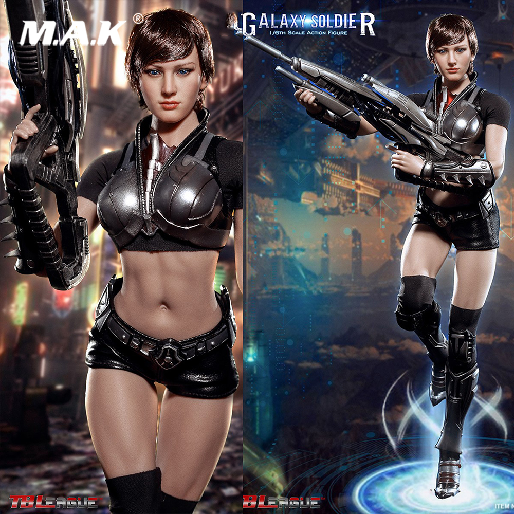 TBLeague PL2017 110 1/6 Scale Galaxy Soldier With long barrelled gun and armors and female seamless body Full set Action Figure