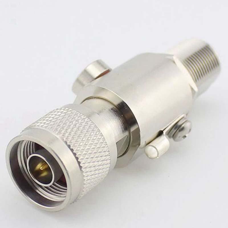 RF Coaxial Connector Feeder Lightning Arrester N Base Station Antennas Weak Connector Arrester Male To Female Plug Protection areyourshop 5pcs lightning arrestor n male plug to n female coaxial 0 2 5ghz 400w ca 23rp