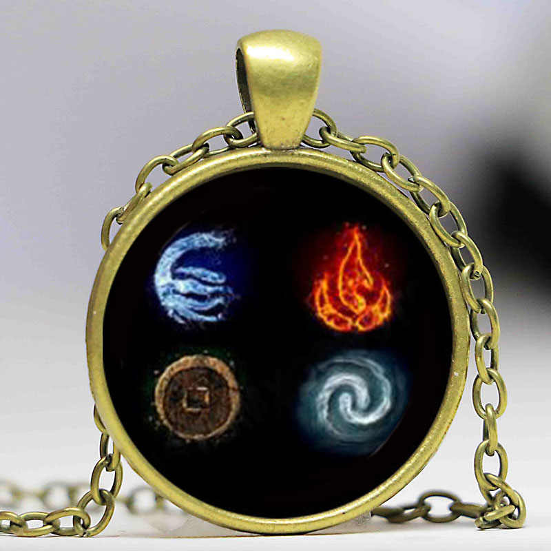 Cartoon Avatar Last Airbender Glass Dome Pendant Necklace DIY Handmade Fashion Jewelry Accessories Vintage Gift for Men